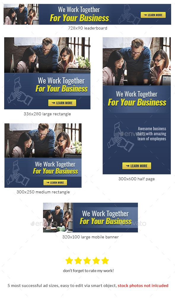 Corporate Web Banner Design Template 73 - Lite - Banners & Ads Web Elements