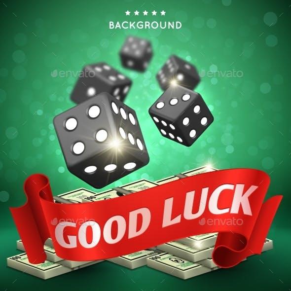 Casino Dice Gambling Background Good Luck