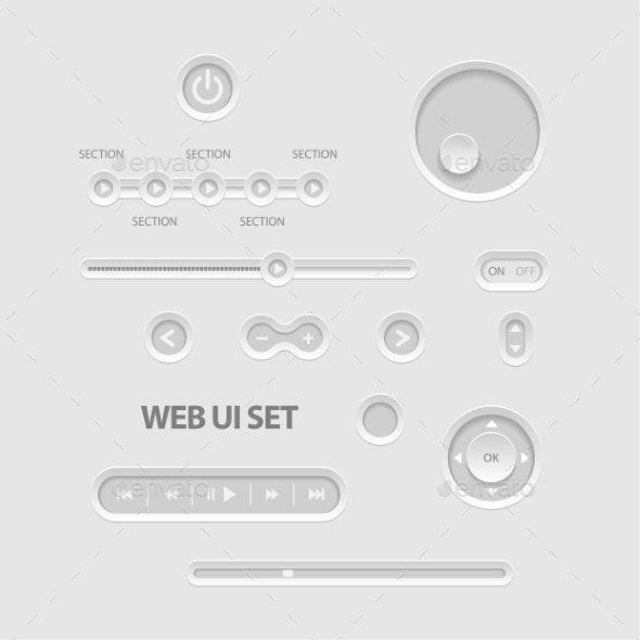 Dark Web UI Elements - Media Technology