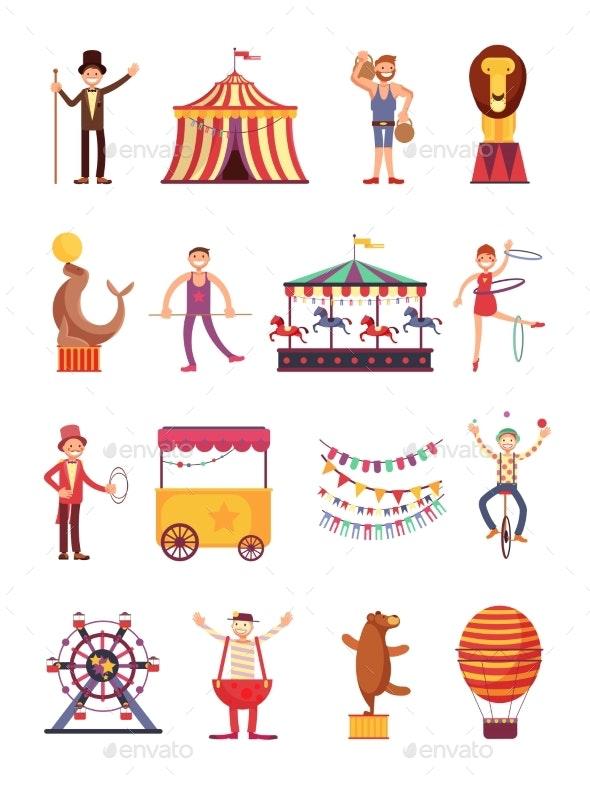 Carnival and Circus Cartoon Characters - Miscellaneous Vectors