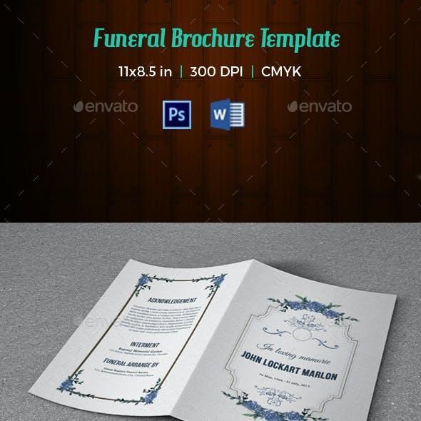 Funeral Program Template V176