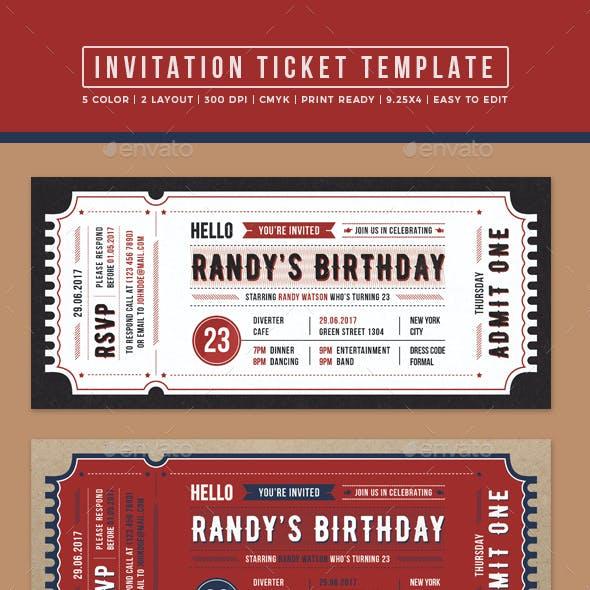 Invitation Ticket