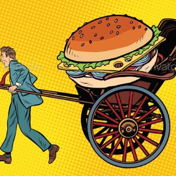 Food Delivery, Rickshaw and Cart