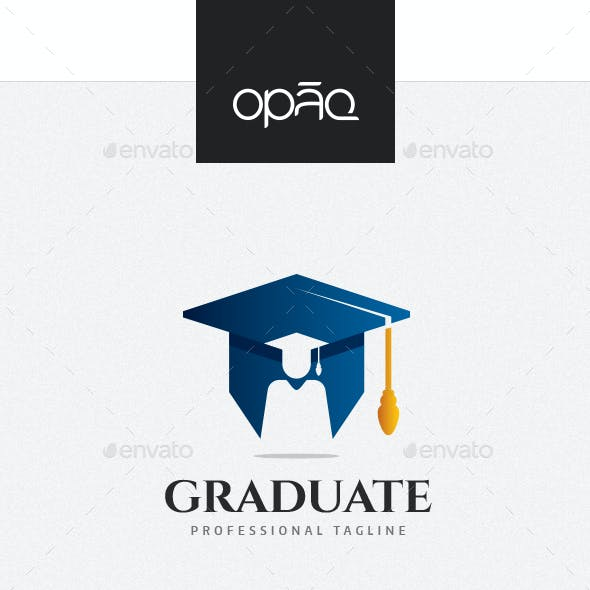 College Graduation Mortarboard Logo
