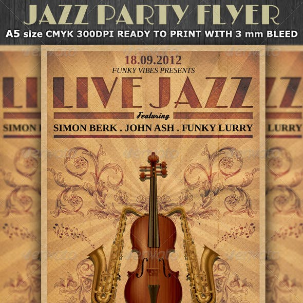 Jazz Party Flyer Template v3