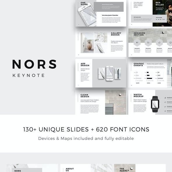 NORS - Minimal Keynote Template