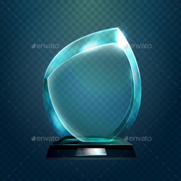 Sport Trophy or Transparent Achievement Sign