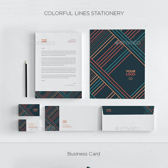 Colorful Lines Stationery
