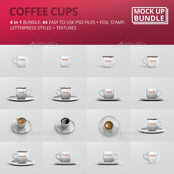 Espresso / Coffee Cup Mockup Bundle