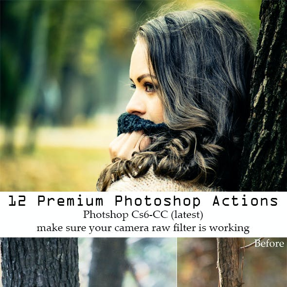 12 Premium Photoshop Actions