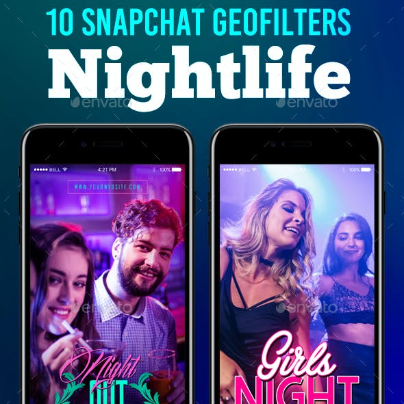 Snapchat Filters - 10 Nightlife Snapchat Geofilters Templates
