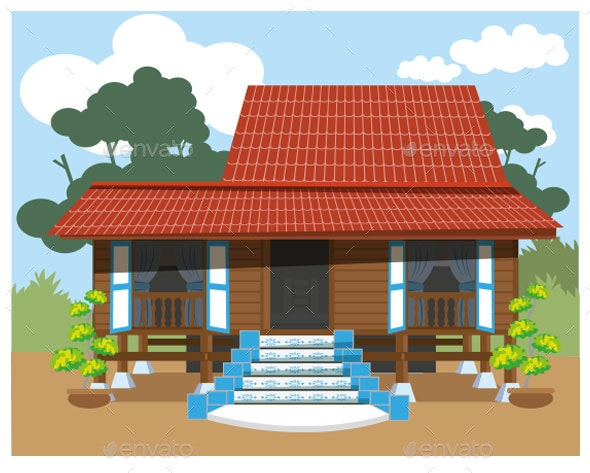 Malay Village House - Buildings Objects