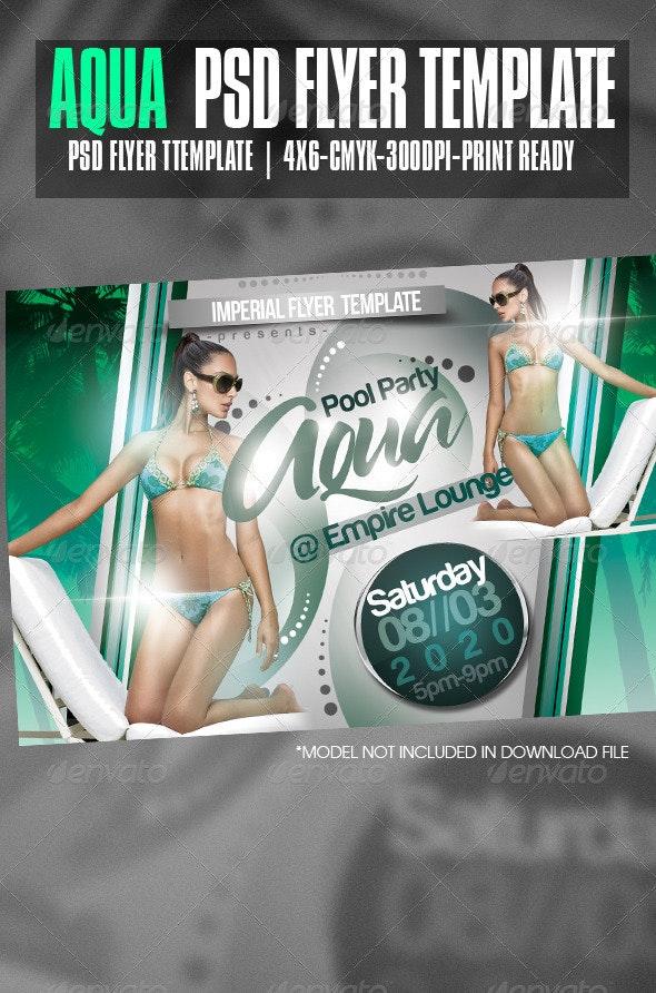 Aqua Party Flyer - Clubs & Parties Events