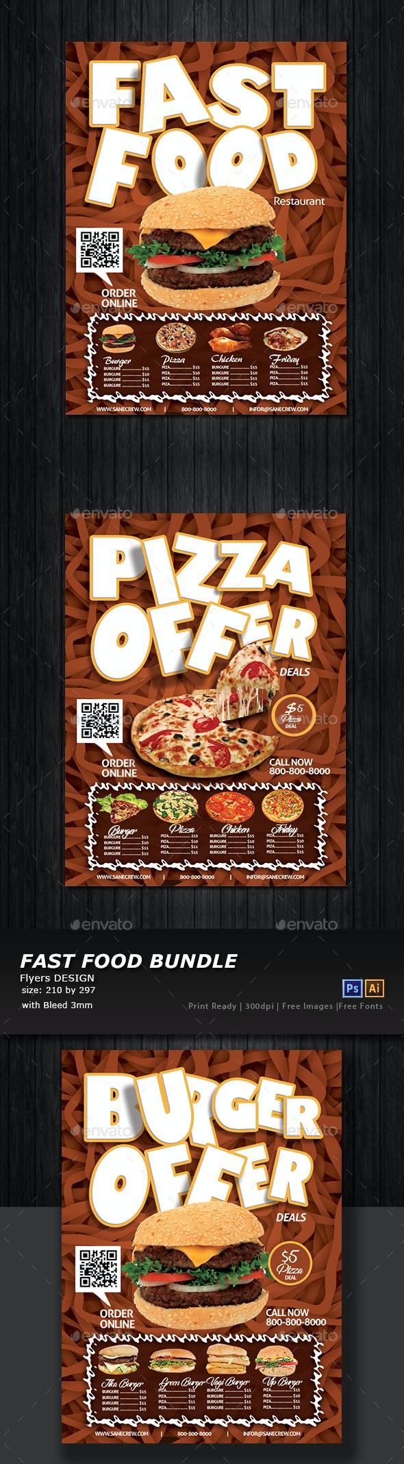 Restaurant Fast Food Flyer - Restaurant Flyers