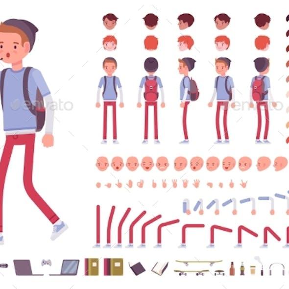Teenager Boy Character Creation Set