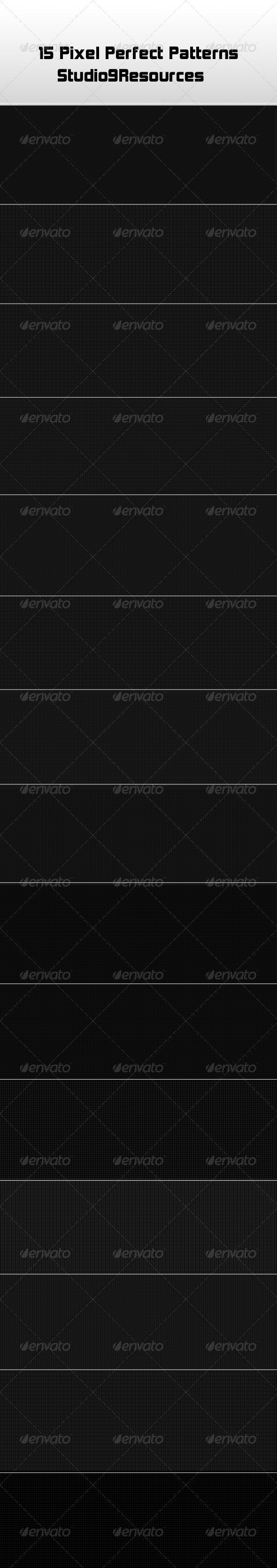 15 Pixel Perfect Patterns - Textures / Fills / Patterns Photoshop
