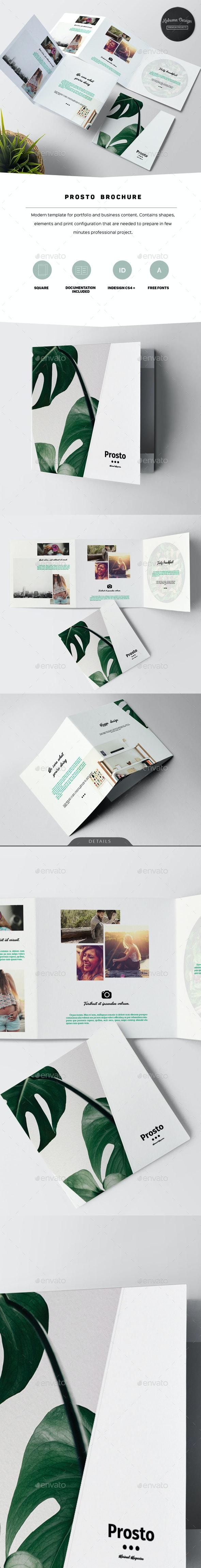 Prosto Square Brochure - Informational Brochures