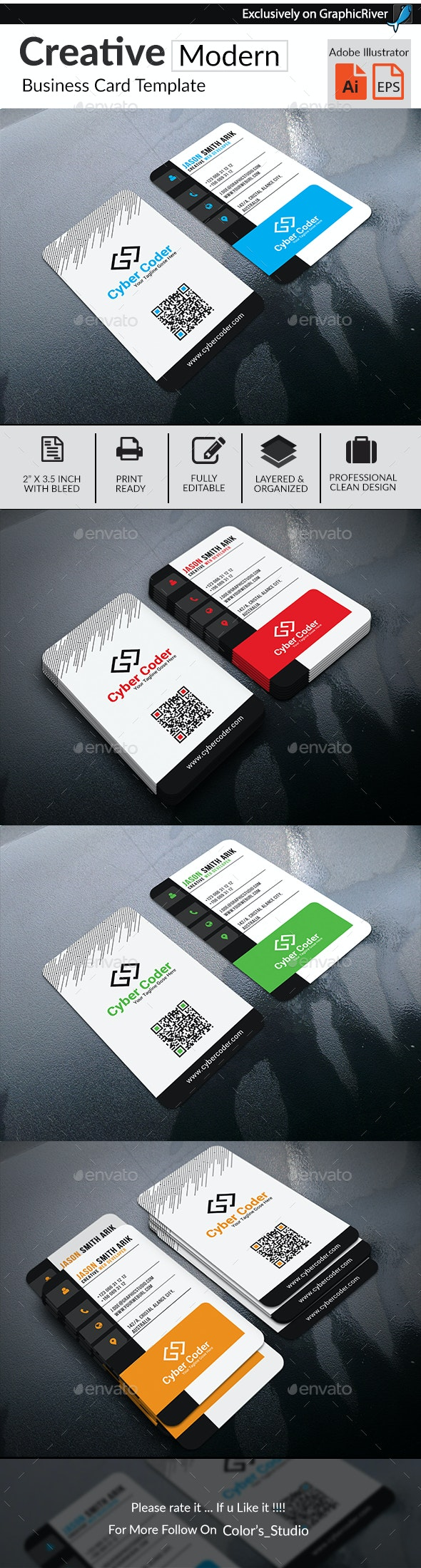 Creative Modern Business Card - Business Cards Print Templates