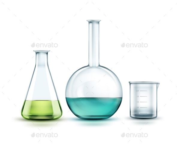 Glass Laboratory Flasks - Man-made Objects Objects