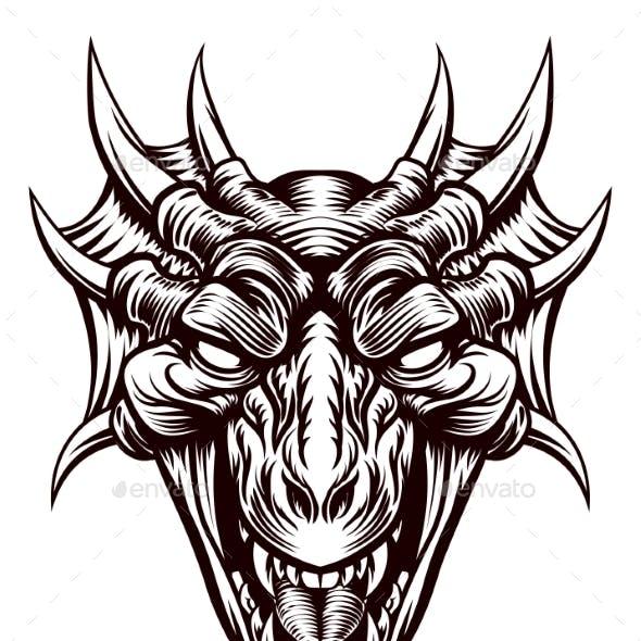 Dragon Demon Monster Head Face