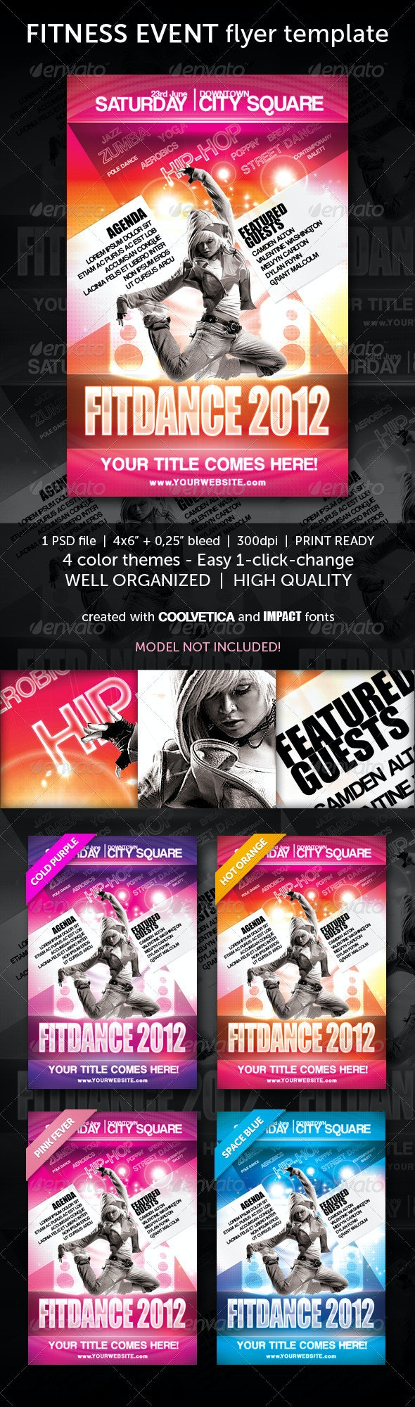 Multipurpose Fitness Flyer - Clubs & Parties Events