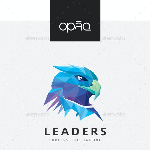 Colorful Polygons Eagle Head Logo