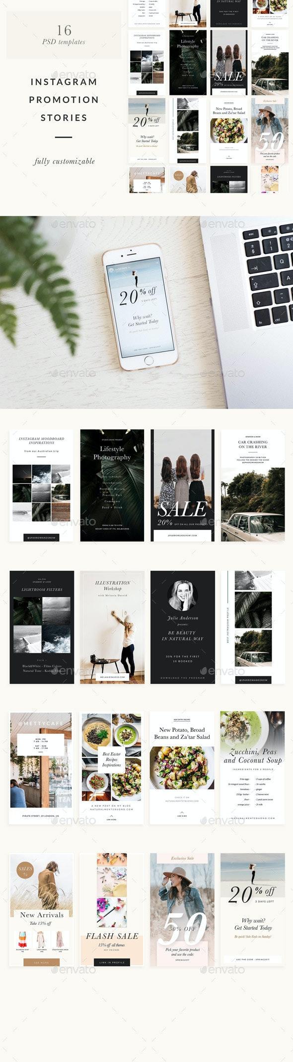 Instagram Stories Templates - Social Media Web Elements