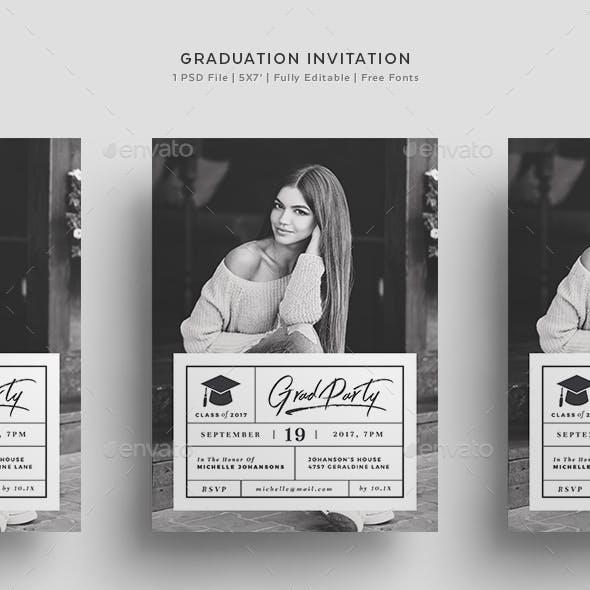 Graduation Invitation Graphics Designs Templates