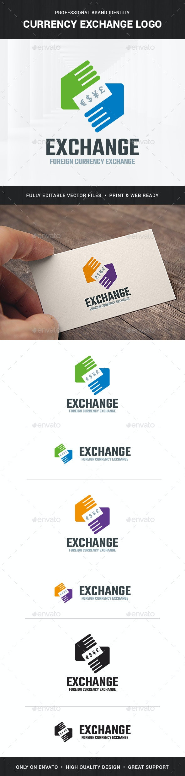 Currency Exchange Logo Template - Symbols Logo Templates