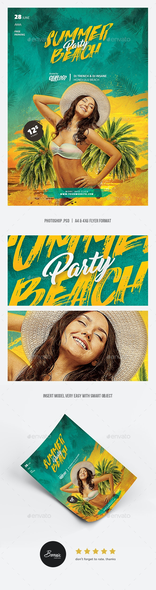 Summer Beach Flyer - Holidays Events