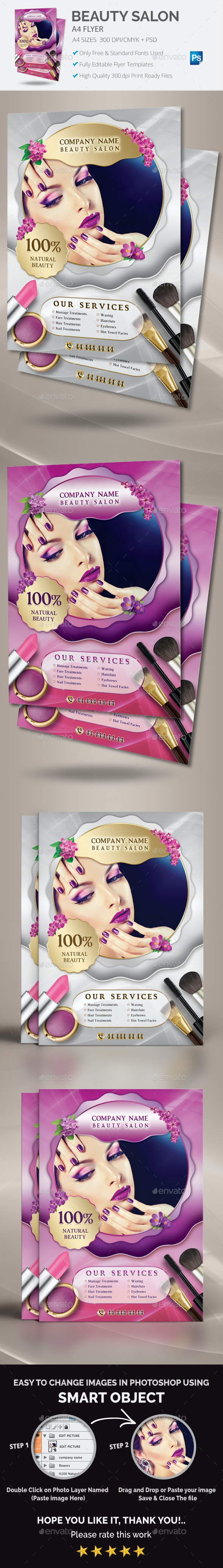 Beauty Salon Flyer - Commerce Flyers