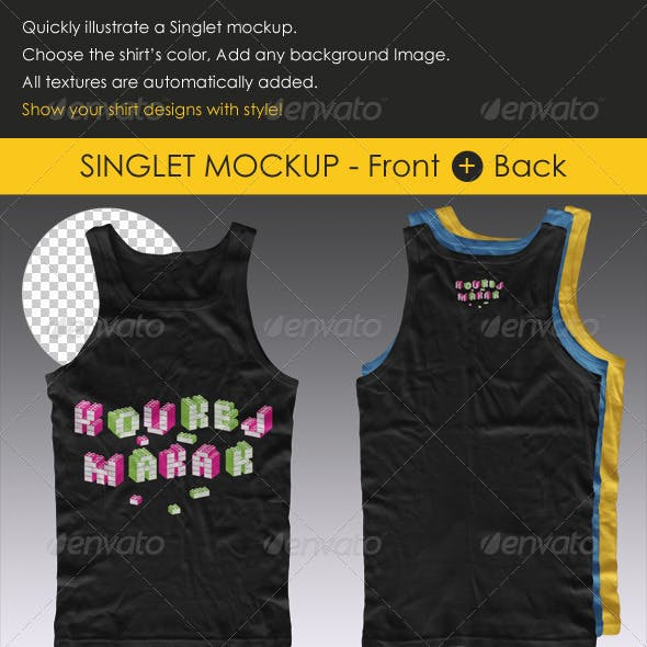 Singlet Shirt Mock-up