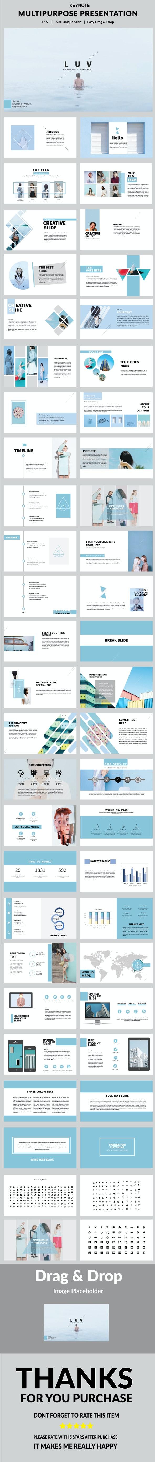 Luv - Keynote Presentation - Keynote Templates Presentation Templates