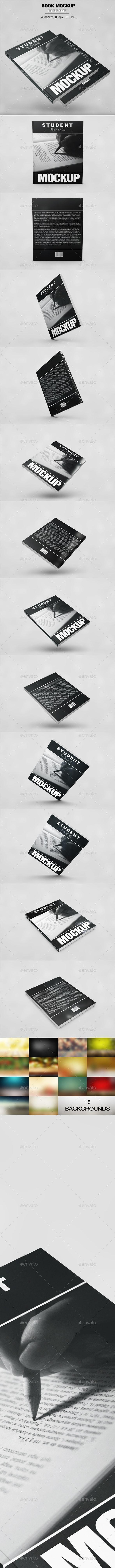 Student Book Mockup - Product Mock-Ups Graphics