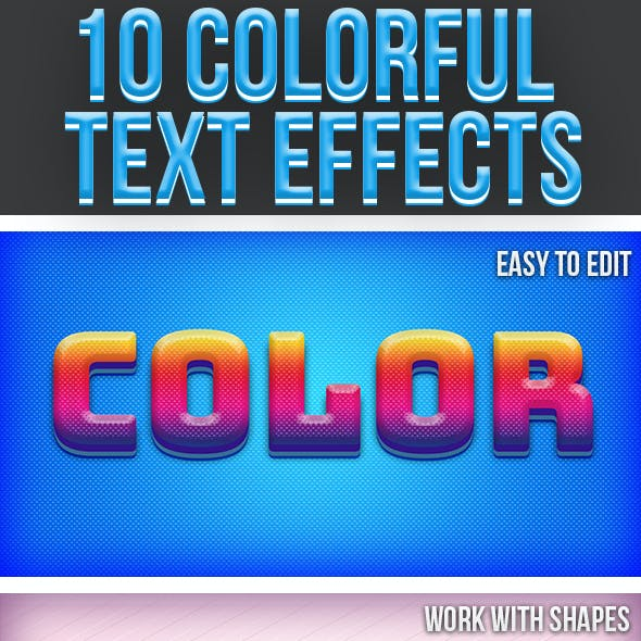 Colorful Text Effects 4
