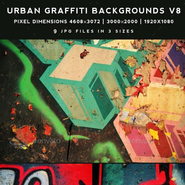 Urban Graffiti Backgrounds v8