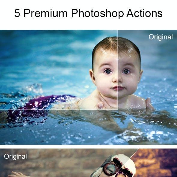 5 Retouch Photoshop Actions