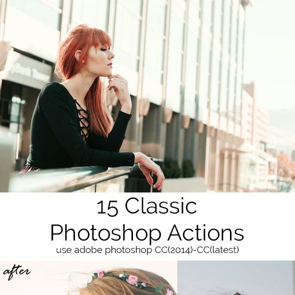 15 Classic Photoshop Actions