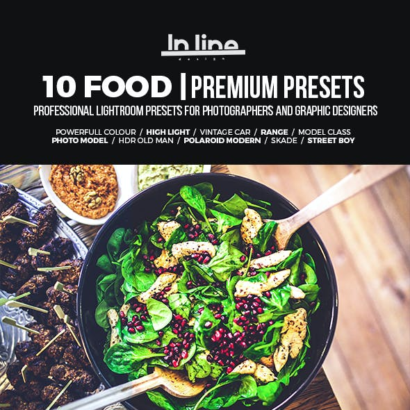 10 Food Premium Presets Lightroom