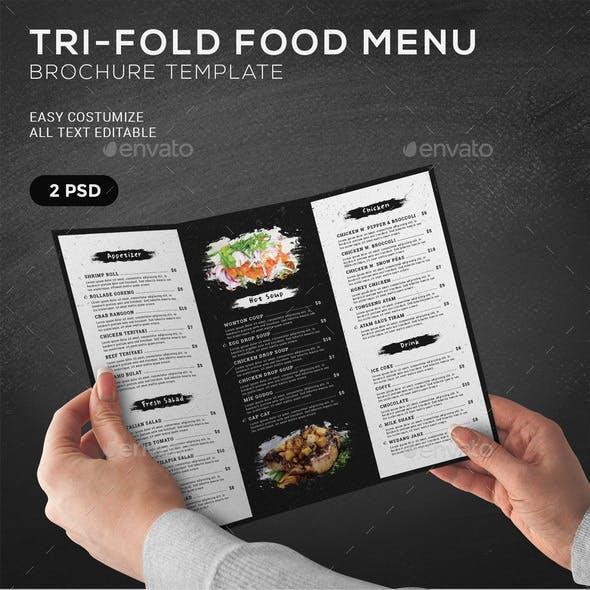 TriFold Food Menu Brochure Template