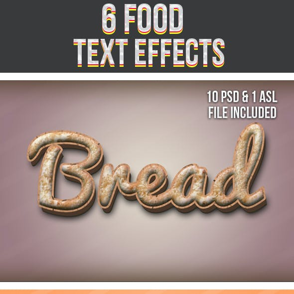 Food Text Effects