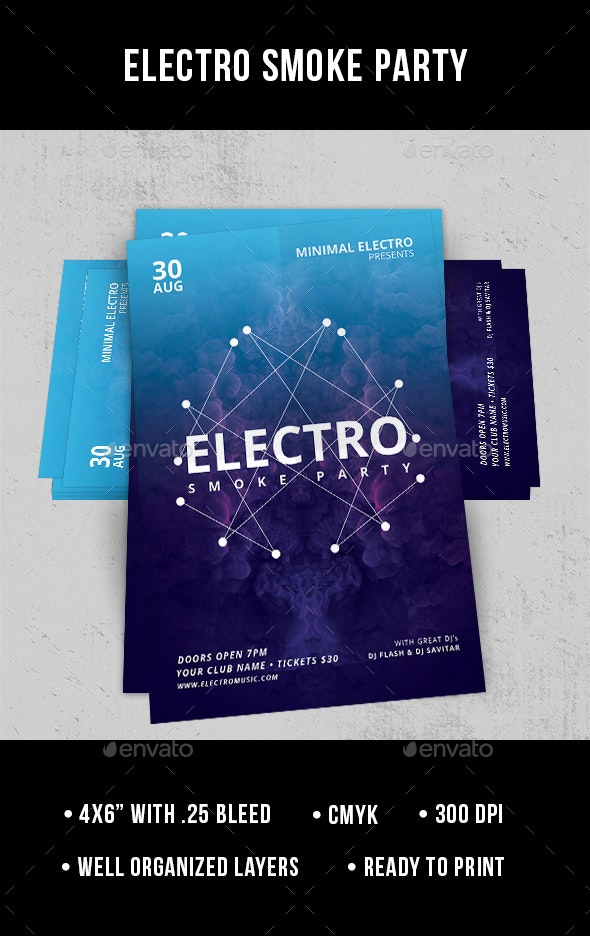 Electro Smoke Party - Flyer - Clubs & Parties Events