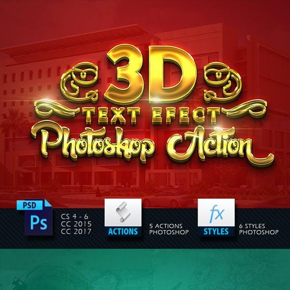 3D Gold Sparkling Text Effect V02