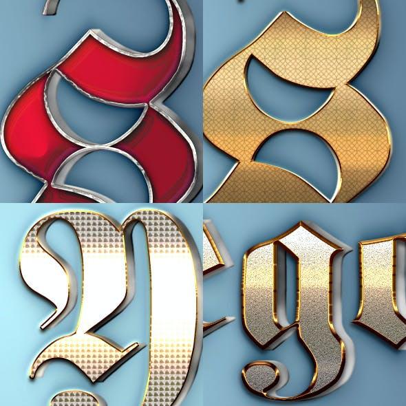 3D Text Styles 170601