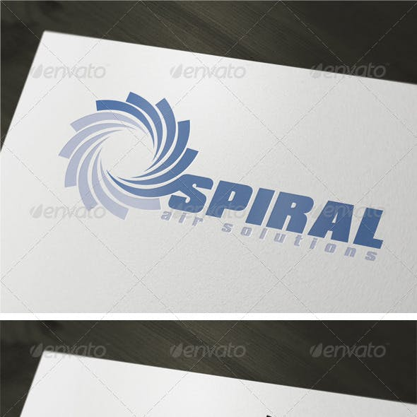 Spiral Air Solutions Logo Template