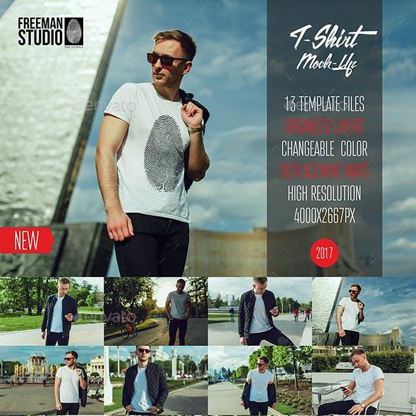 Men's T-Shirt Mock-Up Vol.2 2017