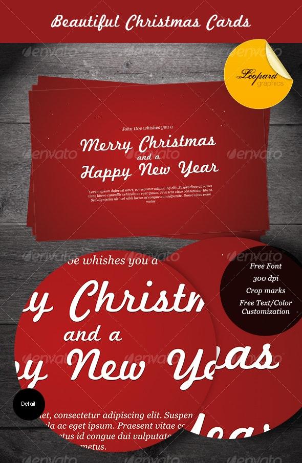 Beautiful Christmas Cards - Miscellaneous Print Templates