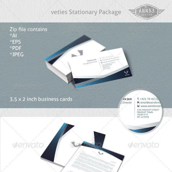 Veties Stationary Set