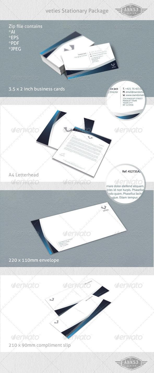 Veties Stationary Set - Stationery Print Templates