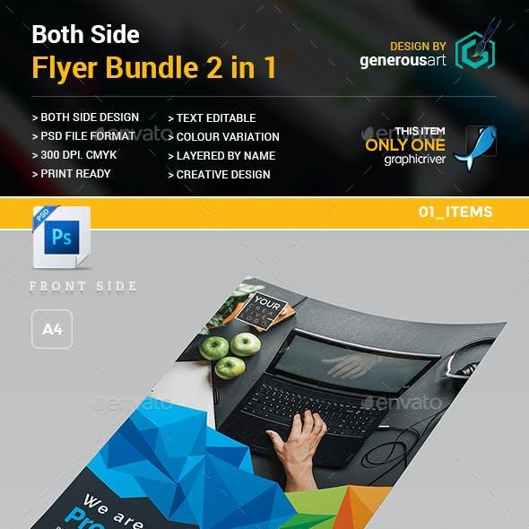 Both Side Flyer Bundle 2 in 1